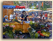 Painting of Provence Flower Seller, Cassis Market