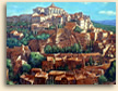 Painting of Gordes in Provence