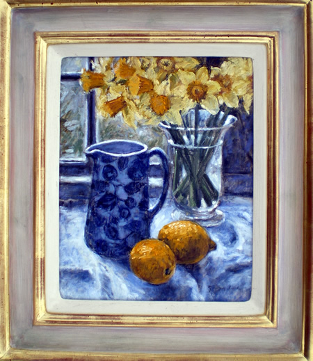 Still Life with Daffodils and Lemons
