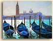 Painting of gondolas in Venice, Italy