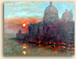 Painting of Sunset Grand Canal