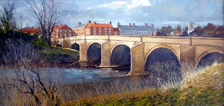 Tadcaster Bridge, Spring Morning
