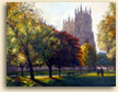 Painting of York Minster is the autumn light